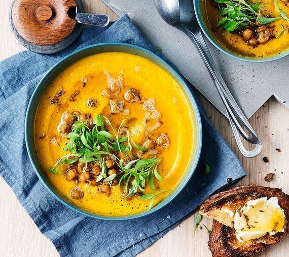 Deliciosa Sopa de zanahoria y lentejas