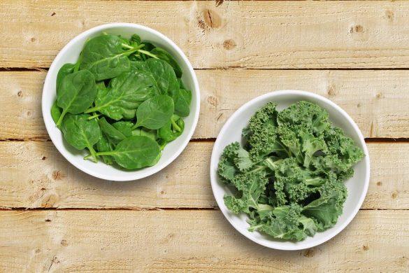 Kale o Espinacas: ¿cuál tiene más beneficios?