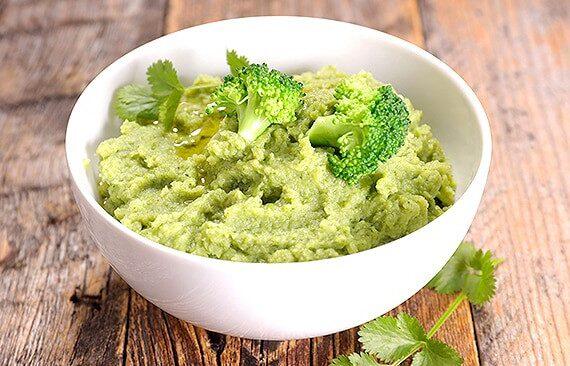 Sopa de brócoli y puré