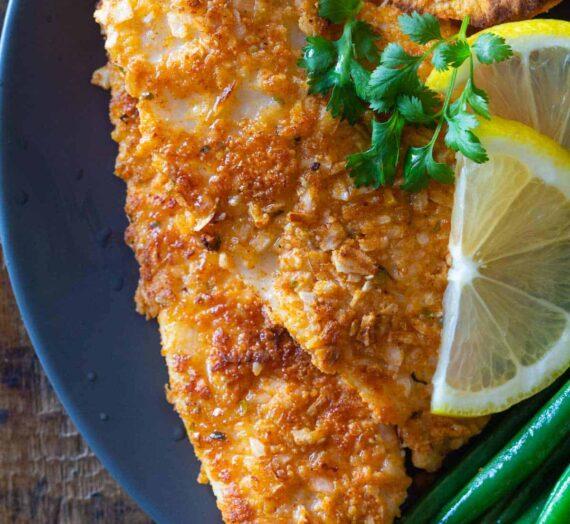 Filetes de Pescado Empanizados Sin Pan